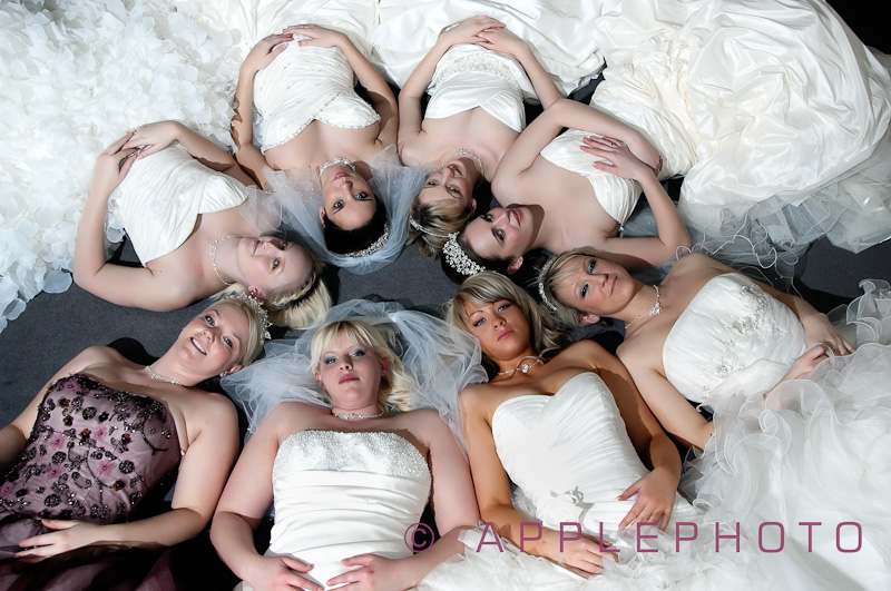 Models at the Bride Beautiful Exhibition, Normaby Hall